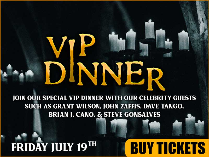 VIP Dinner with our Celebrity Guests!